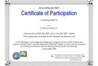 The Wonderful Certificate Of Participation Word Template for Conference Participation Certificate Template