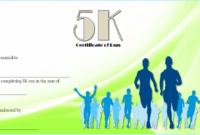 This 5K Race Certificate Template Is Actually Still with regard to Finisher Certificate Template