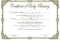 This Free Baby Blessing Certificate Template Uses A in Christian Certificate Template