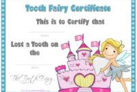 Tooth Fairy Certificate  Tooth Fairy Certificate Tooth within Quality Free Tooth Fairy Certificate Template