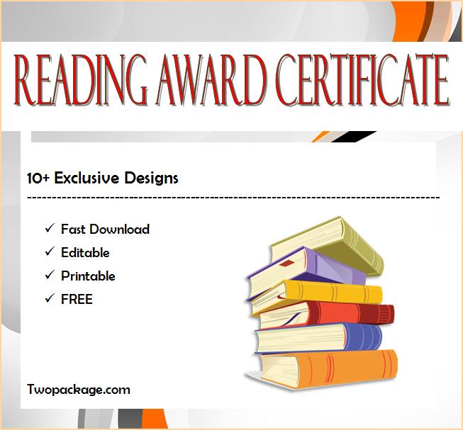 Top 10 Editable Reading Award Certificates Free within Free Reading Achievement Certificate Templates