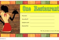 Top 12 Restaurant Gift Certificates New York City Free for Restaurant Gift Certificates Printable