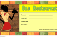 Top 12 Restaurant Gift Certificates New York City Free with Amazing Dinner Certificate Template Free