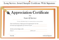 Top 25 Certificates Powerpoint Templates Used regarding Amazing Long Service Certificate Template Sample