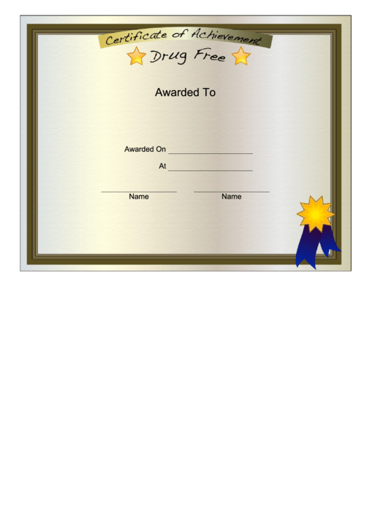 Top 46 Certificate Of Sobriety Templates Free To Download inside Printable Certificate Of Sobriety Template Free