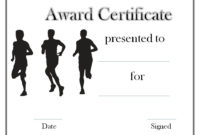 Track And Field Certificate Templates Free  Customizable for Quality Free Softball Certificates Printable 10 Designs