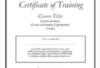 Training Certificate Template Doc  Planner Template Free throughout Printable Construction Certificate Template 10 Docs Free