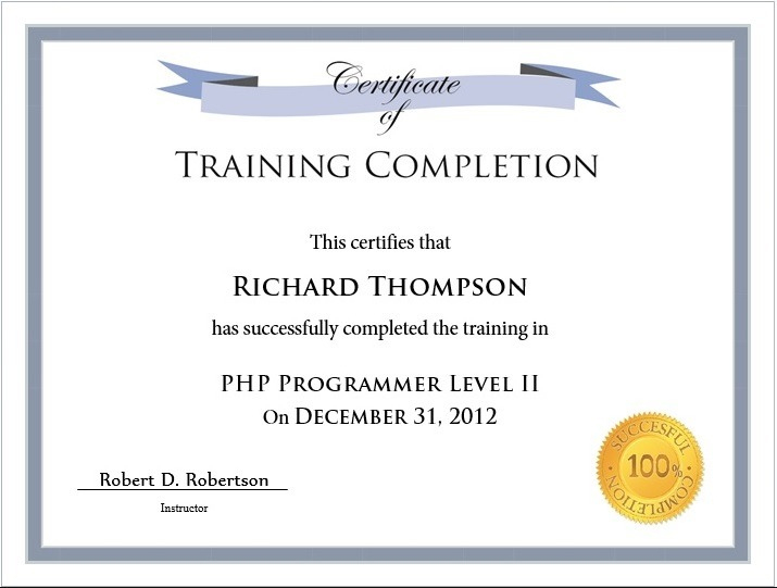 Training Certificate Template  Free Word Templates regarding Training Certificate Template Word Format