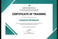 Training Certificate Templates  10 Educational Formats pertaining to Awesome Training Course Certificate Templates