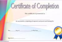 Training Course Certificate Templates 10 Best Choices within Training Completion Certificate Template 10 Ideas