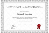 Training Participation Certificate Design Template In Psd pertaining to Professional Certificate Templates For Word