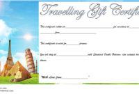 Travel Gift Certificate Editable 10 Modern Designs in Fishing Gift Certificate Editable Templates