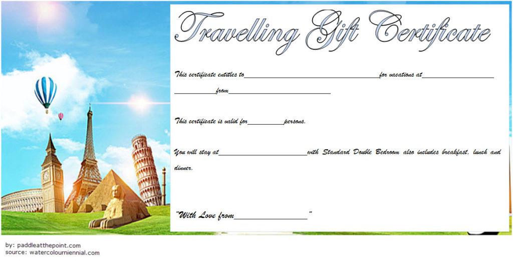 Travel Gift Certificate Editable 10 Modern Designs inside Free Free 10 Fitness Gift Certificate Template Ideas