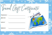 Travel Gift Certificate Editable 10 Modern Designs with regard to Free Free 10 Fitness Gift Certificate Template Ideas