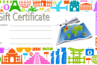 Travel Gift Certificate Template Free 2  Gift Certificate with Best Free Travel Gift Certificate Template