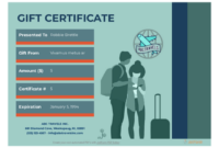 Travel Gift Certificate Template  Pdf Templates  Jotform in Free Travel Gift Certificate Template