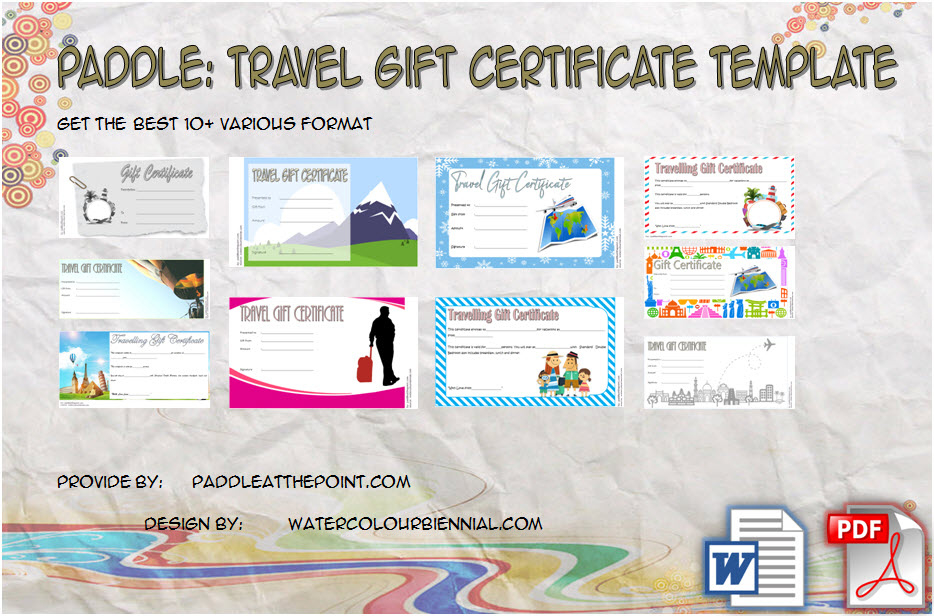 Travel Gift Certificate Templates  10 Best Ideas Free intended for Best Fishing Gift Certificate Editable Templates