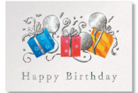Trio Of Gifts Business Birthday Cards From Gneil for Happy Birthday Gift Certificate