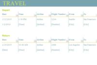 Trip Planner regarding Virtual Meeting Agenda Template