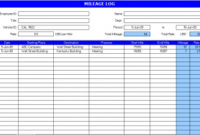 Truck Driver Log Book Excel Template  Charlotte Clergy regarding Mileage Log For Taxes Template