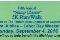 """Trufant Jubilee """"Stump Chasers"""" 5K in 5K Race Certificate Template 7 Extraordinary Ideas"""