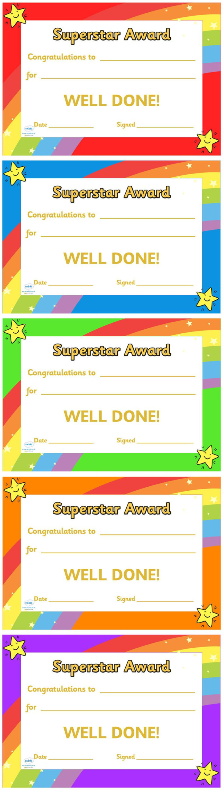 Twinkl Resources  Super Star Award Certificate with regard to Amazing Star Reader Certificate Template