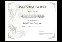 Two Usui Reiki I Certificate Printable Templates  Etsy for Free Share Certificate Template Australia
