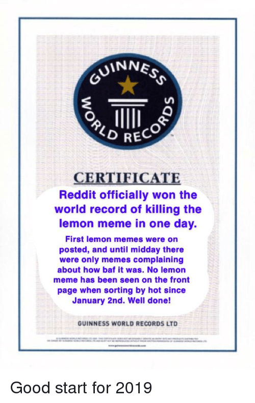 Uinne 2 Reco Certificate Reddit Officially Won The World throughout Best Guinness World Record Certificate Template
