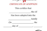 Unavailable Listing On Etsy within Free Elf Adoption Certificate Free Printable