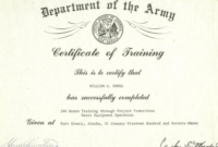Us Army Training Us Army Training Certificates Inside Army pertaining to Quality 9 Math Achievement Certificate Template Ideas