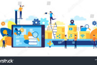 Vector Illustration Flat Style A Production Line With inside Free 9 Smart Robotics Certificate Template Designs