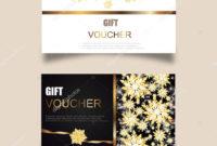 Vector Set Luxury Gift Vouchers Ribbons Gift Box Elegant for Magazine Subscription Gift Certificate Template