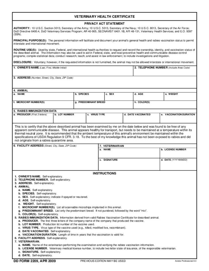 Veterinary Health Certificate Template  Carlynstudio in Amazing Dog Vaccination Certificate Template