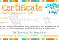 Vibrant Imagery Life Chiropractic  Graphics in Kids Gift Certificate Template