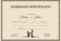 Vintage Certificate Template Word  Certificate Templates with regard to Quality Marriage Certificate Template Word 10 Designs