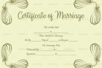 Vintage Marriage Certificate Template  Editable within Marriage Certificate Editable Templates