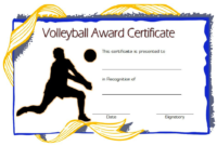 Volleyball Award Certificate Template Free 18 Variants regarding Free Fishing Certificates Top 7 Template Designs 2019