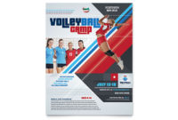 Volleyball Camp Flyer Template Design in Free Volleyball Tournament Certificate