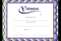 Volunteer Certificate  Templates At Allbusinesstemplates inside Best Volunteer Certificate Template