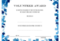 Volunteer Of The Year Certificate 10 Best Design Awards with Best Great Job Certificate Template Free 9 Design Awards