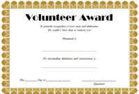 Volunteer Of The Year Certificate 10 Best Design Awards with Years Of Service Certificate Template Free 11 Ideas