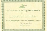 Volunteer  The Good Shepherd Clinic for Volunteer Of The Year Certificate 10 Best Awards
