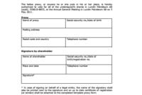 Voteproxy Template regarding Printable Homeowners Association Meeting Agenda Template