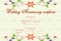 Wedding Anniversary Certificates Colors 6663  Doc with Amazing Anniversary Gift Certificate Template Free