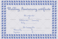 Wedding Anniversary Certificates Navy Blue 6671  Doc regarding Amazing Anniversary Gift Certificate Template Free