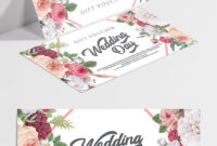 Wedding Day  Premium Gift Certificate Template In Psd within Quality Free Editable Wedding Gift Certificate Template