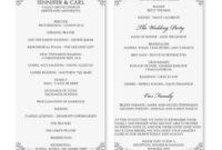 Wedding Program  Google Search  Wedding Program Template throughout Wedding Reception Agenda Template