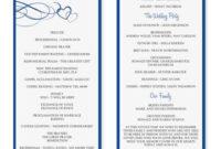 Wedding Program Template Word  Wedding Programs Template throughout Wedding Ceremony Agenda Template