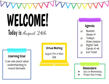 Weekly  Daily Digital Agenda Template  Editable with regard to Level 10 Meeting Agenda Template