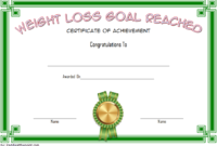 Weight Loss Certificate Template Free 8 New Designs inside Bake Off Certificate Template